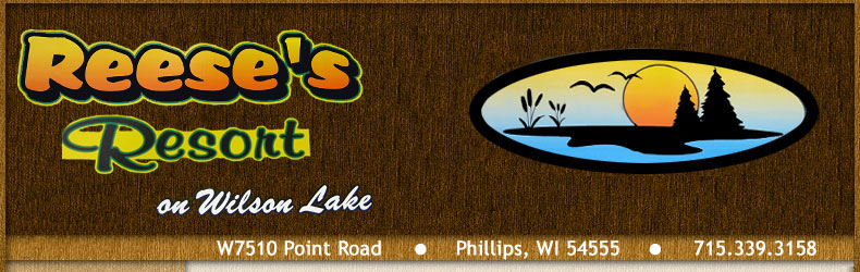 Phillips, WI cabin rentals at Reese's Resort
